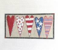 Stars & Stripes Heart Bolster (18 mesh)